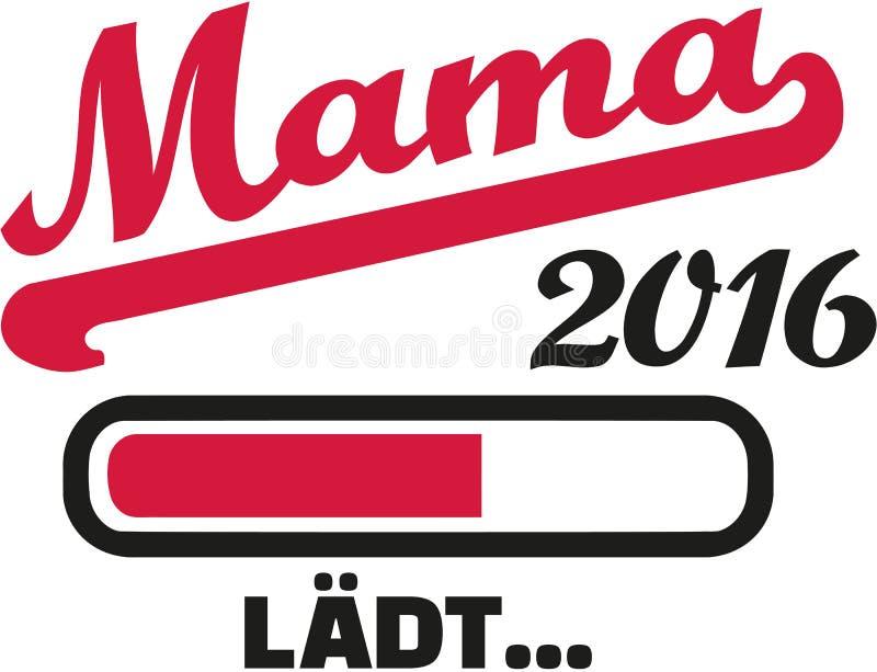 Mom 2016 loading german. Vector stock illustration
