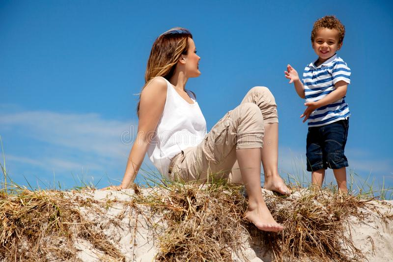 Download Mom Looking at Her Son stock image. Image of leisure - 26575531
