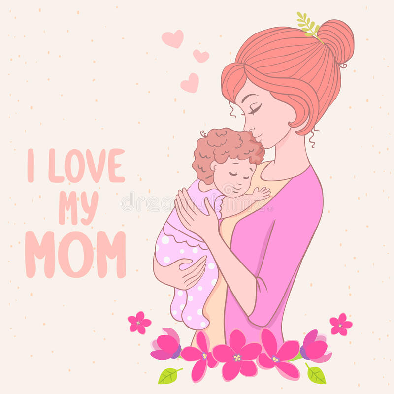 Mom Love Stock Vector Illustration Of Flower Child 43999187