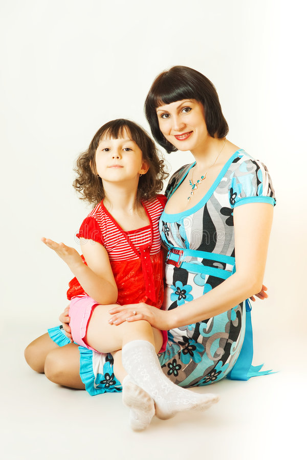 Mom and Me. royalty free stock photo