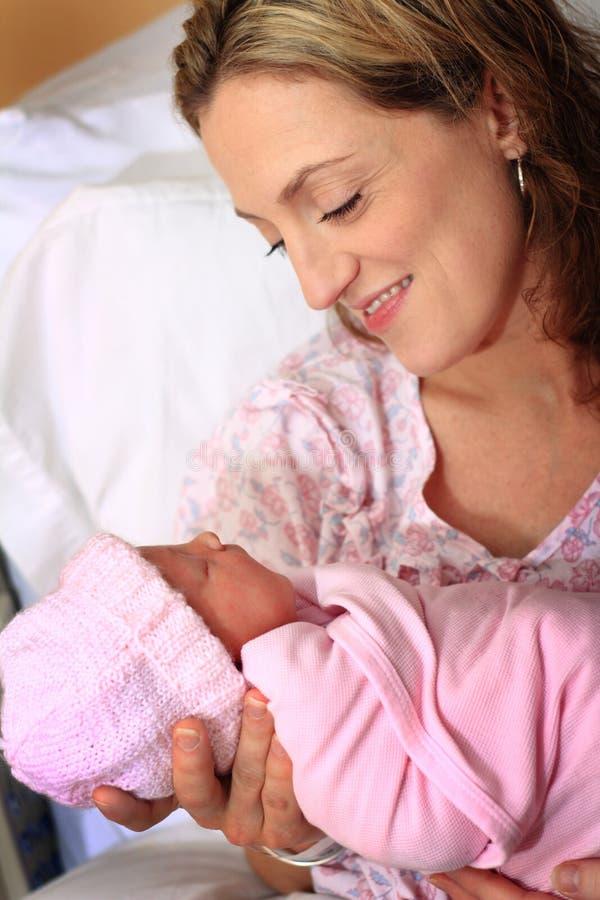 Mom and Newborn Baby stock photos