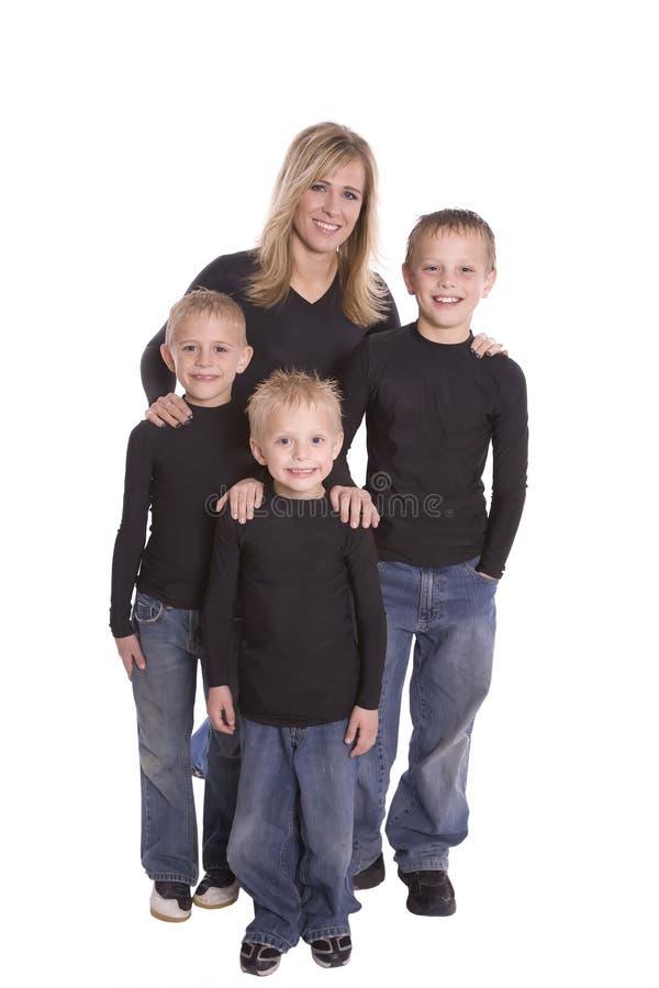 Mom och sons arkivfoto
