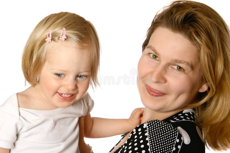 Mom Playing With Toddler Girl Stock Photo