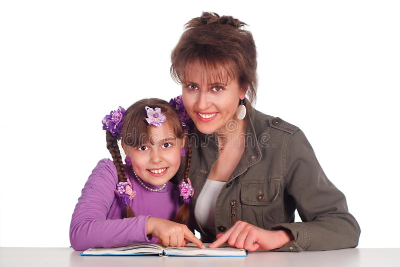 Download Mom reads with daughter stock photo. Image of caucasian - 20610058