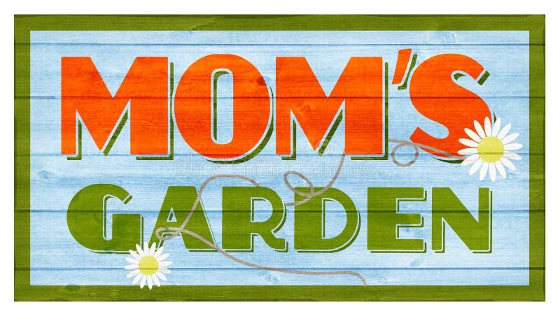 Mom`s Garden Wood Sign royalty free stock photos