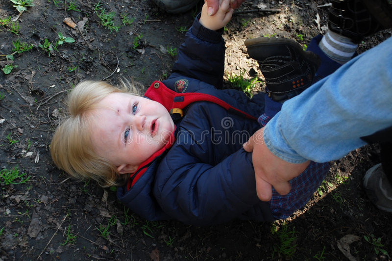 Download Mom's Hands Helping Baby Up Royalty Free Stock Image - Image: 4868196