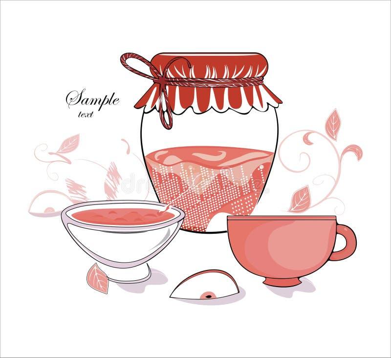 Download Mom's jam stock vector. Illustration of pattern, plate - 23966839