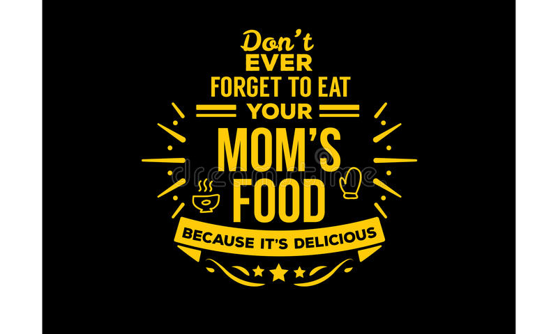 Mom& x27; s jedzenie ilustracja wektor