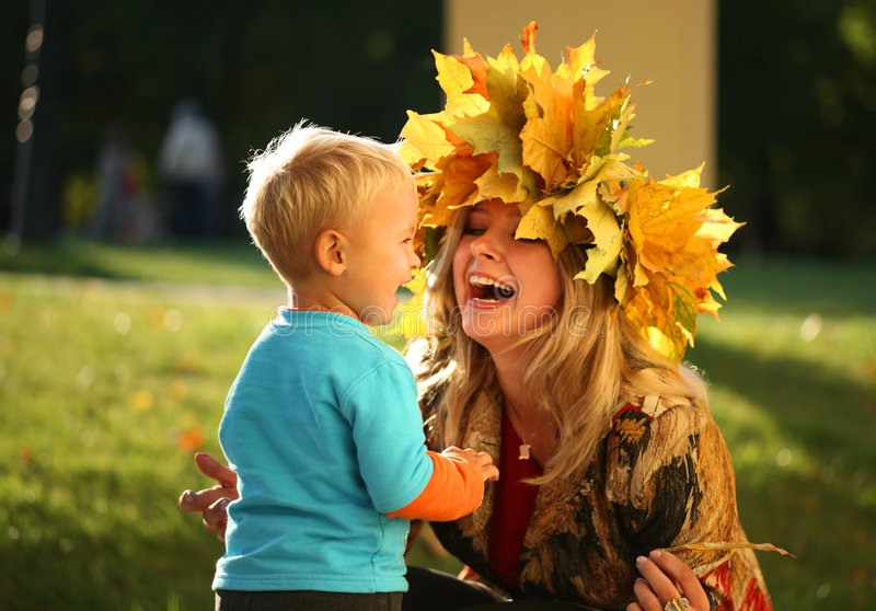 Download Mom and son stock photo. Image of grass, laughing, child - 3733110