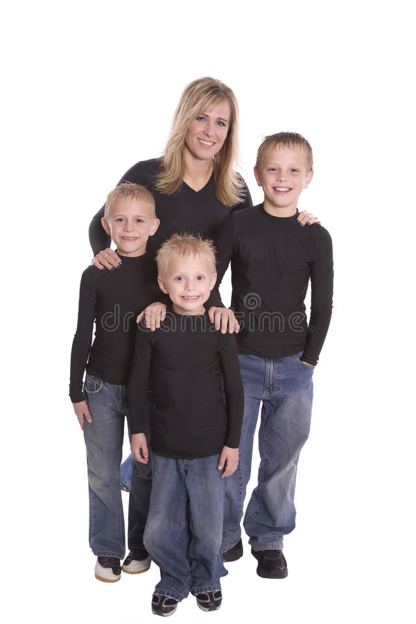 Download Mom and sons stock photo. Image of sister, relation, together - 12721050