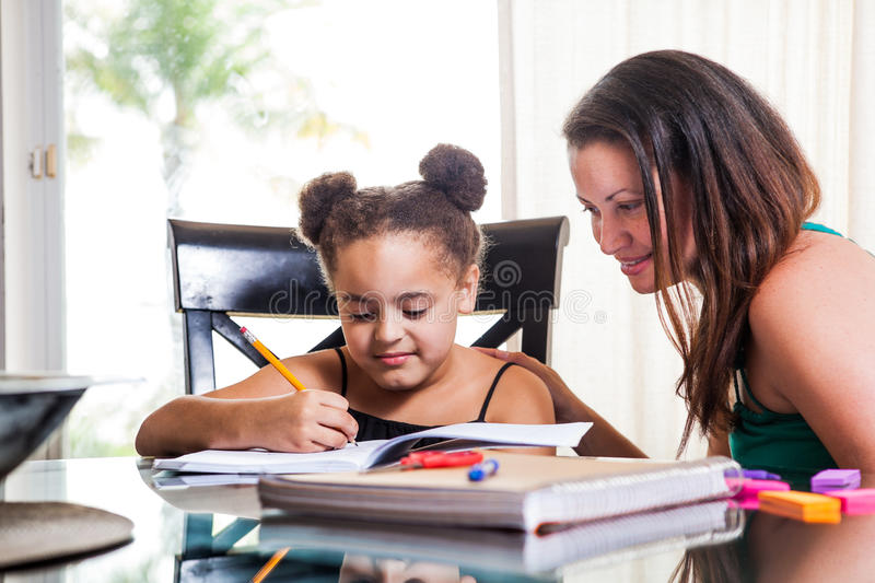 Mom Teaching Daughter Royalty Free Stock Images