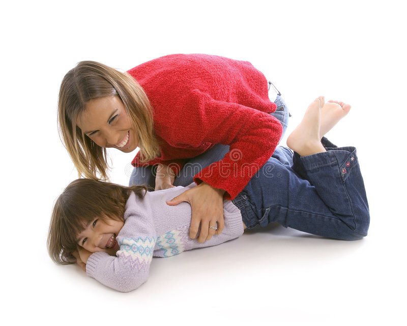 Download Mom tickle stock photo. Image of family, laugh, tickle - 7598566