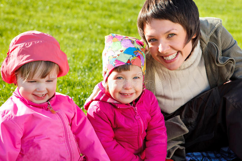 Download Mom with two toddlers stock image. Image of parent, human - 14040719