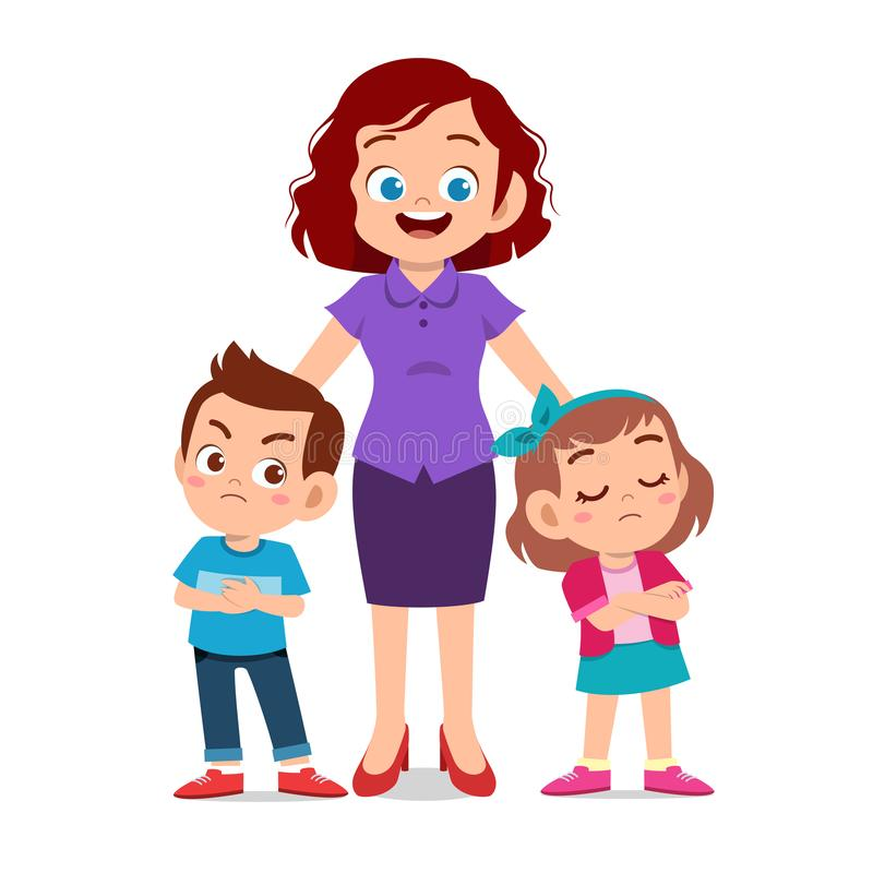 Free Mom With Kids Fighting Ague Royalty Free Stock Photo - 158023285