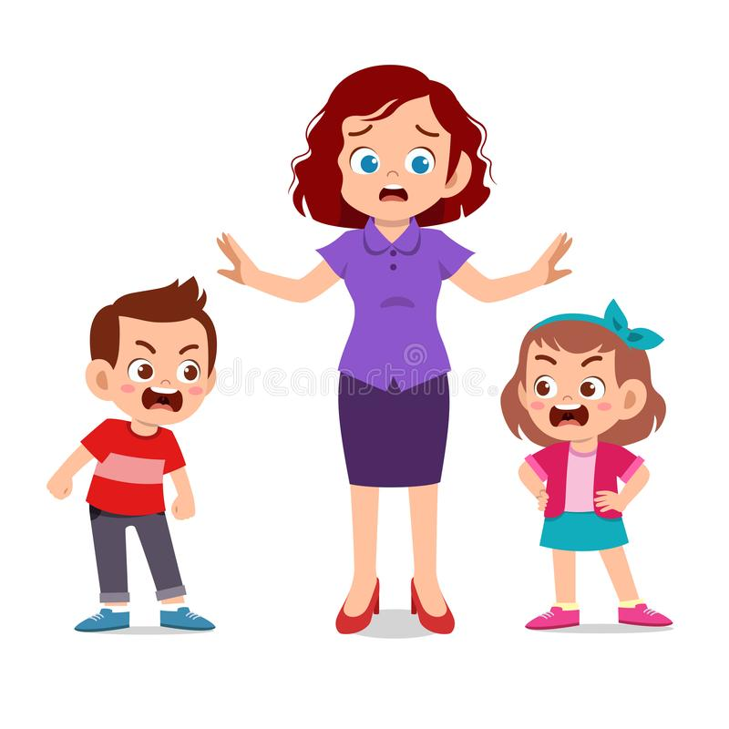 Free Mom With Kids Fighting Ague Stock Images - 158023314