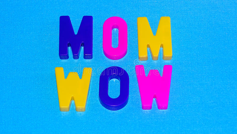 Mom/Wow royalty free stock photos