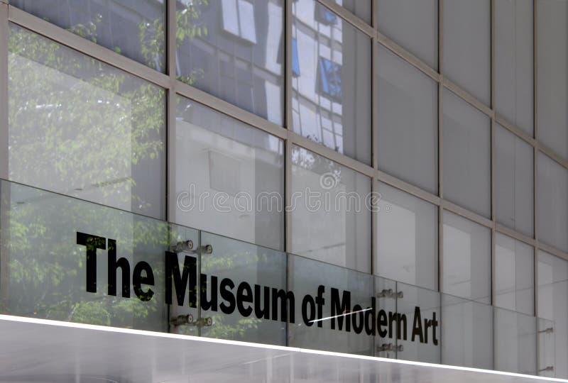 MoMA museum av modern konst, New York City arkivbild