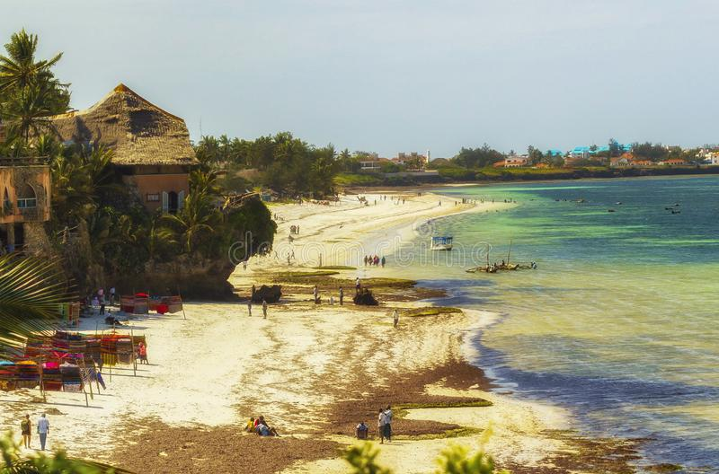 Mombassa plaża Kenja Afryka Wschodnia zdjęcie stock