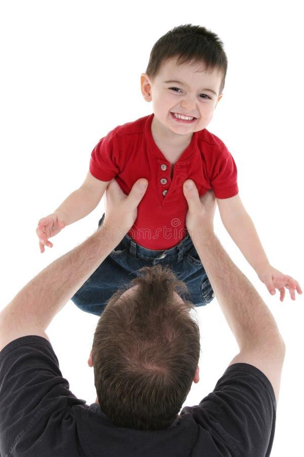 Moment adorable de famille entre le père et le fils images libres de droits