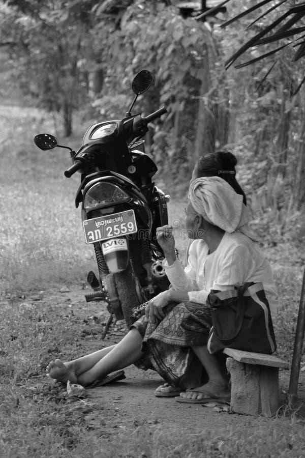 Moment du repos au Laos images libres de droits