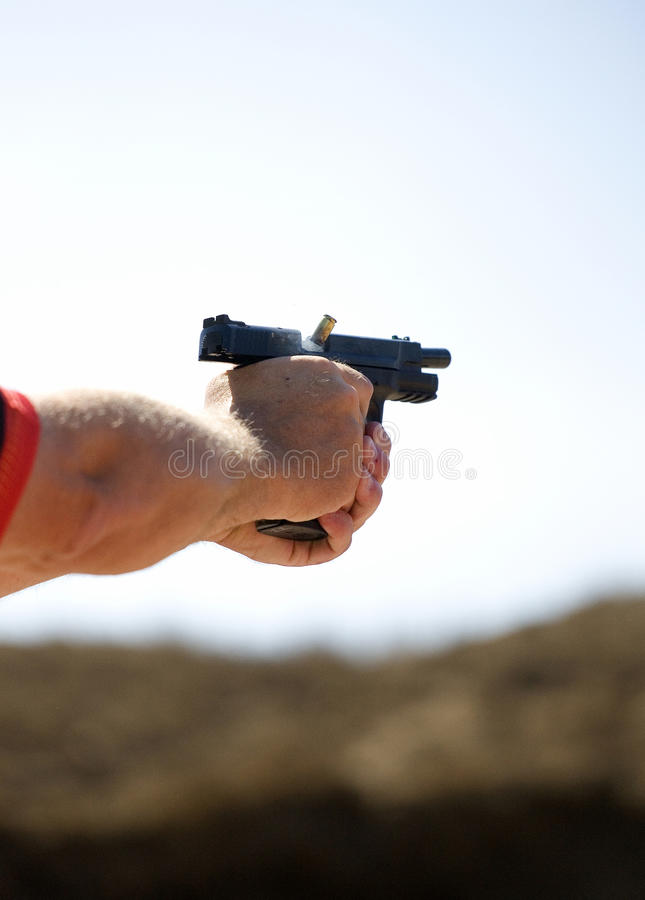 Download Moment of ejection stock image. Image of brass, firearm - 27022459