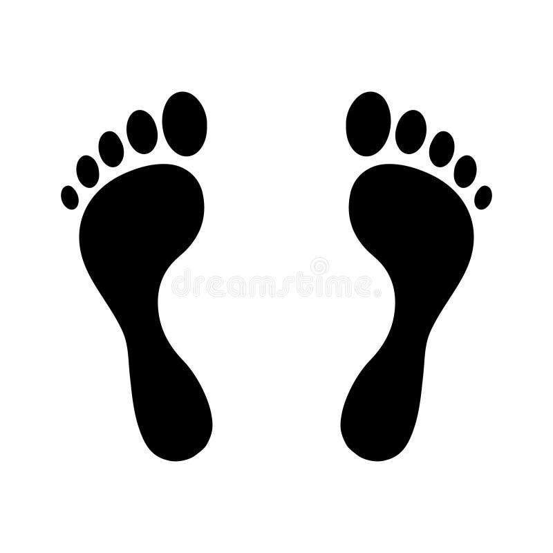 Moment för mänsklig fot vektor illustrationer