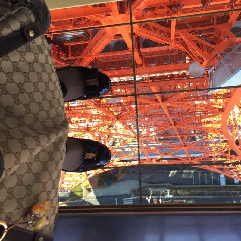 Moment för Tokyo tornhimmel arkivbild