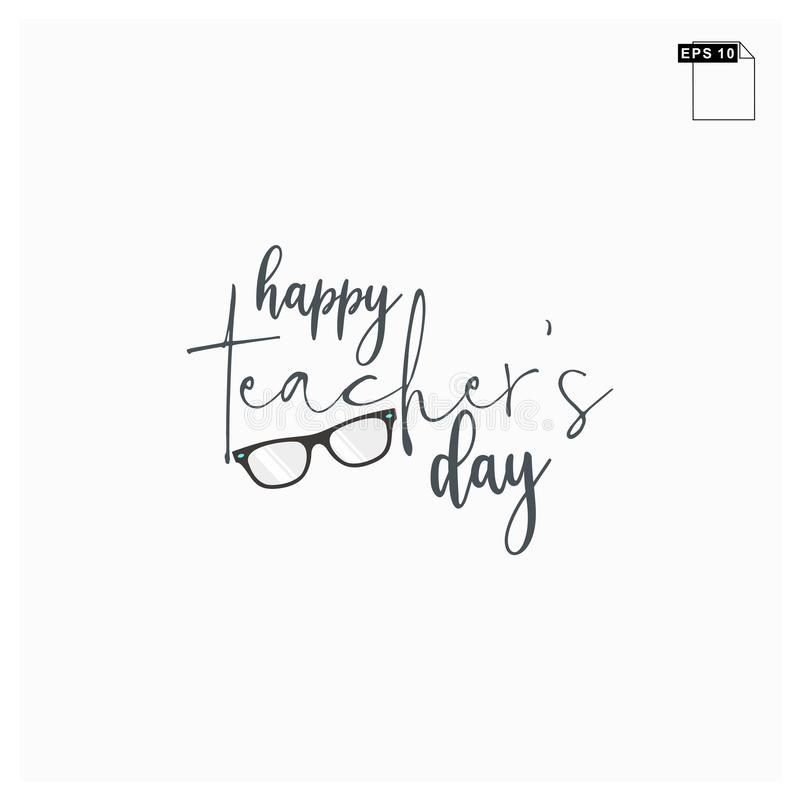 Moment happy teachers day lettering art font royalty free stock photo