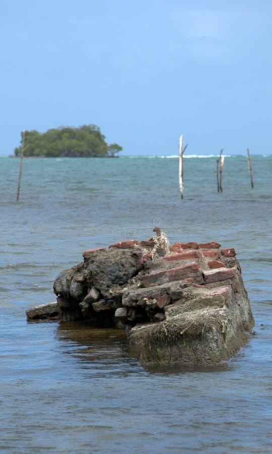 Moment i vattnet på den Jauca stranden royaltyfria foton