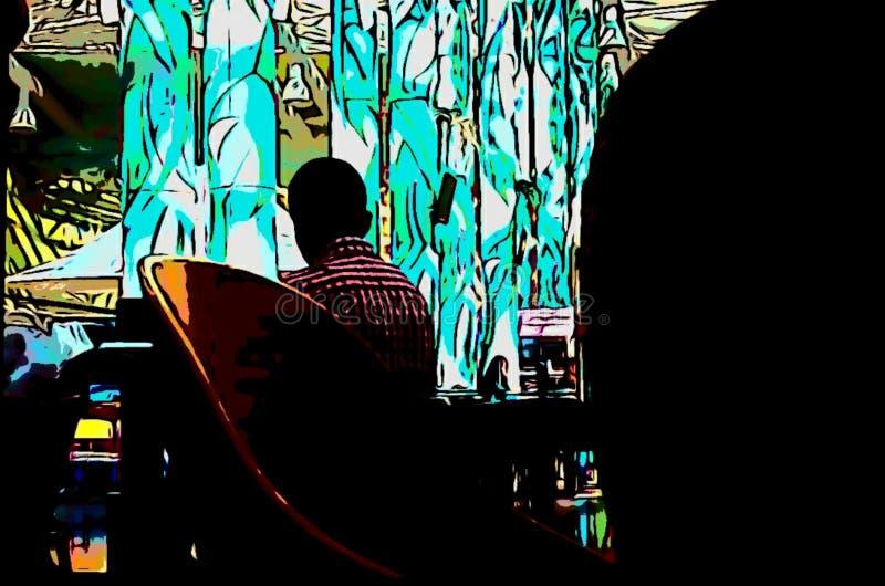 Moment im Café stockbild