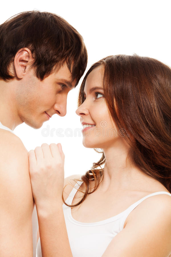 The moment of intimacy royalty free stock photo