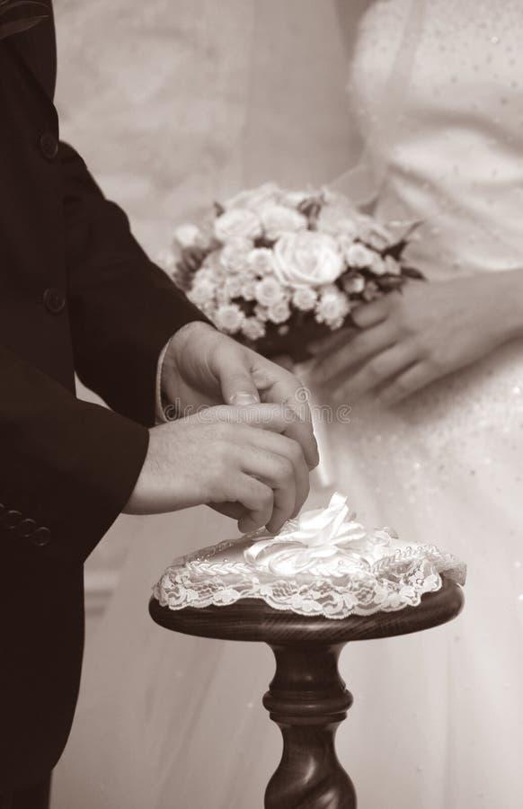 moment na ślub obraz stock