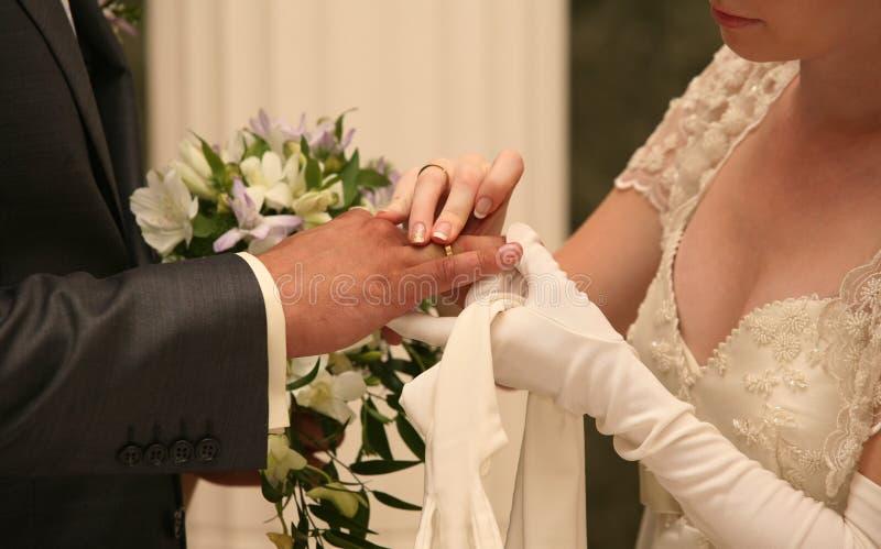 moment na ślub obrazy stock