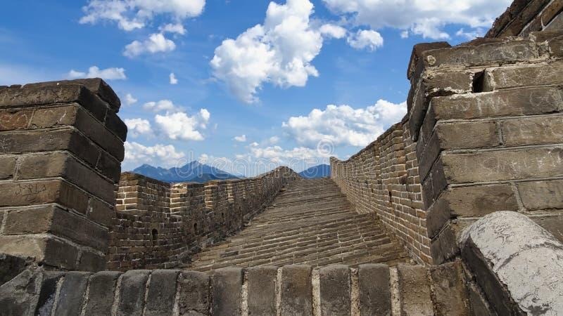 Moment på den stora väggen av Kina i Mutianyu royaltyfri foto