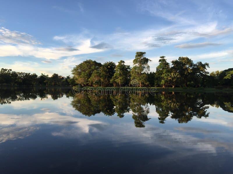 Moment paisible au lac images libres de droits