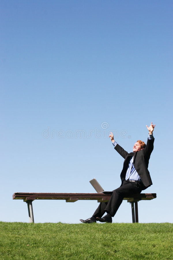 That Moment of Success stock photo