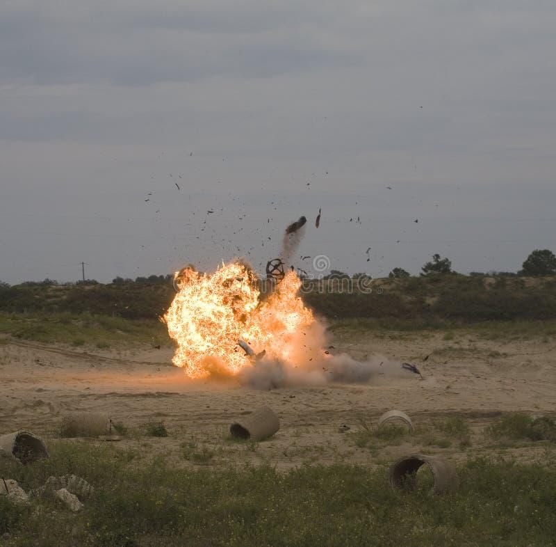 Momento de explosión foto de archivo libre de regalías