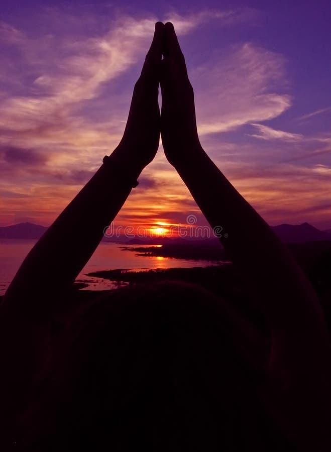Momento de la yoga imagenes de archivo