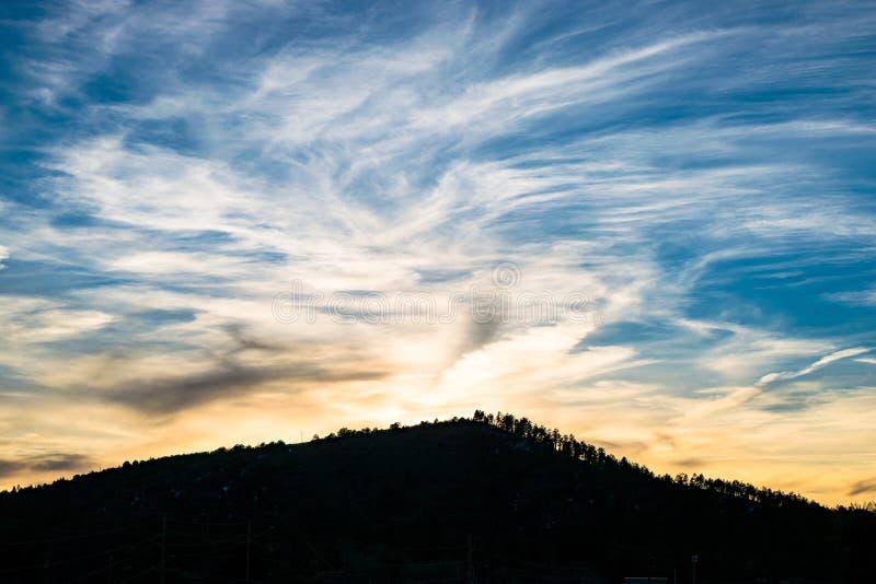 Momento di tramonto al parco nazionale a ferro di cavallo di Grand Canyon della curvatura Fiume di colorado fotografia stock libera da diritti