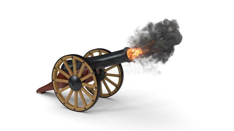 Momento do tiro dos canhões da ramadã ilustração 3D ilustração stock