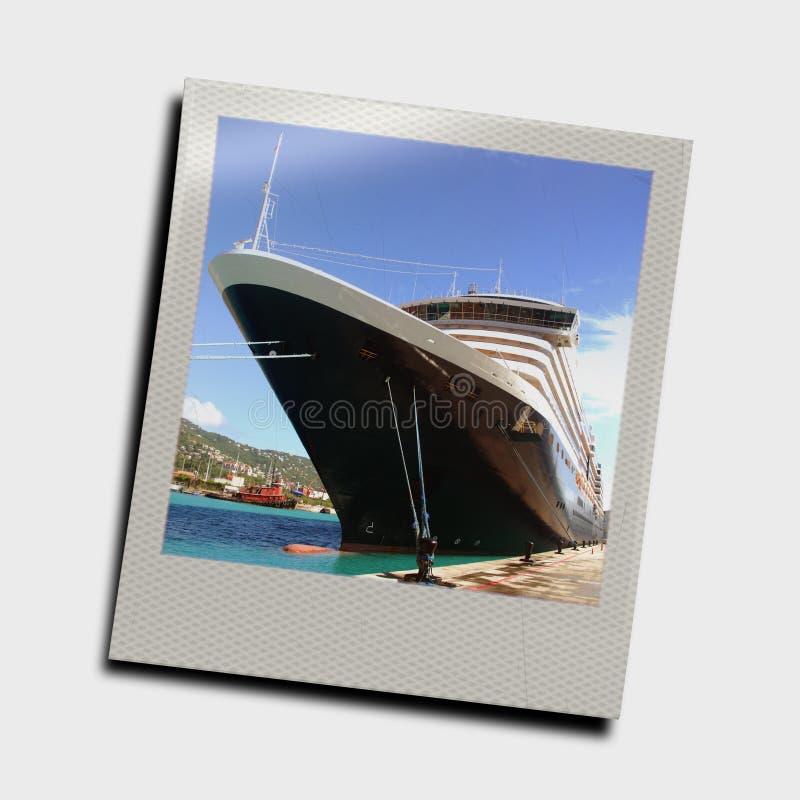 Momentopname van cruiseschip stock foto