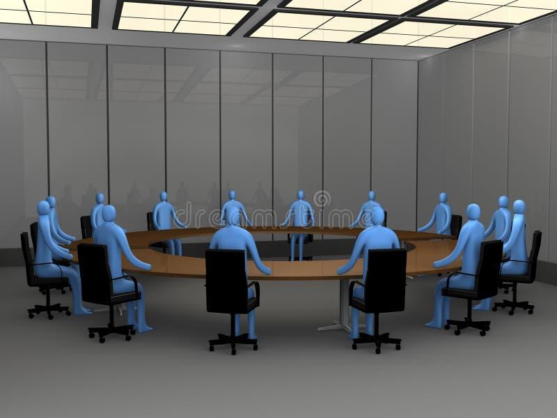 Momentos do escritório - quarto de reunião ilustração royalty free