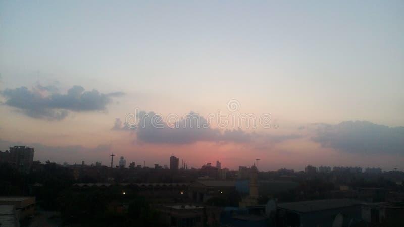 Moments avant le coucher du soleil endroit très simple et bel images stock