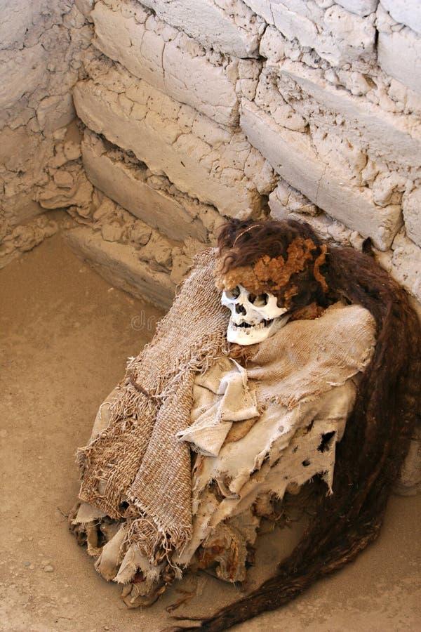Momia antigua envuelta en tela fotografía de archivo libre de regalías