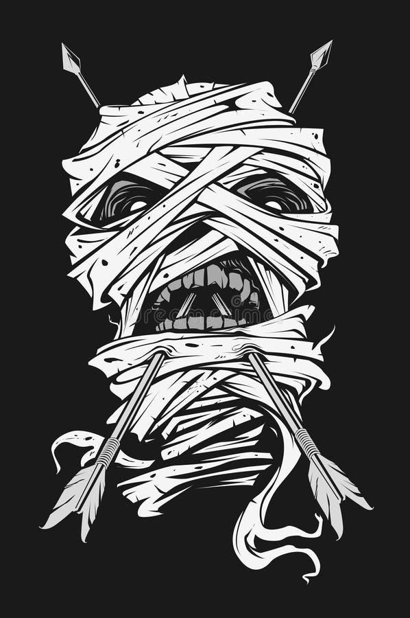 Momia con la flecha ilustración del vector