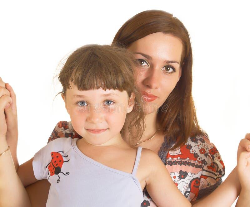 Momia con una hija fotos de archivo