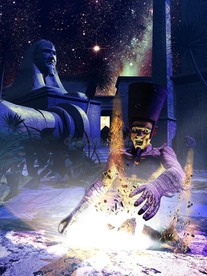 Momia egipcia stock de ilustración