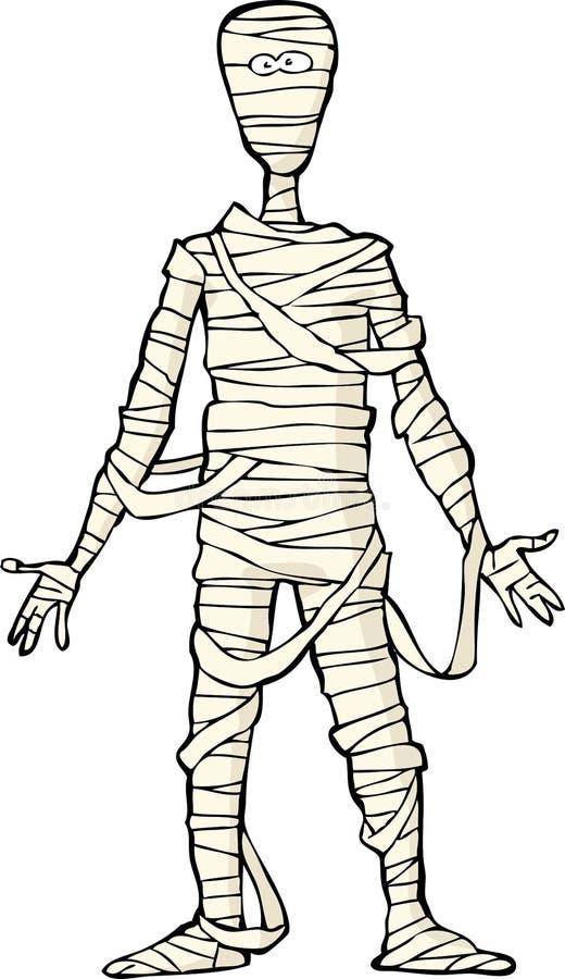 Momia egipcia antigua ilustración del vector