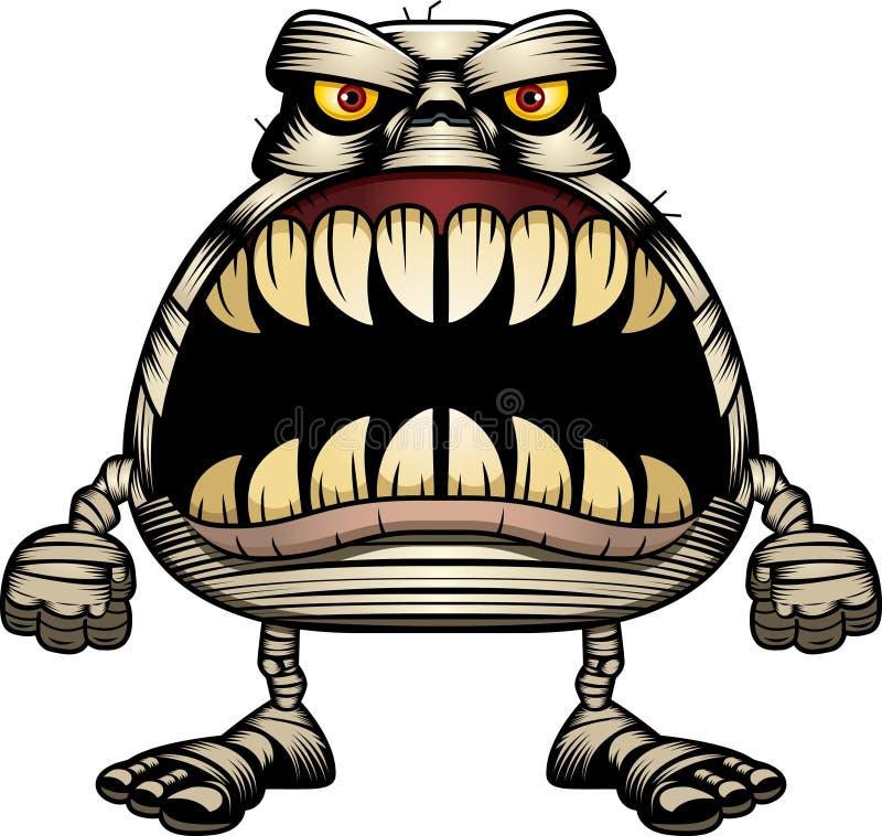 Momia enojada de la historieta ilustración del vector