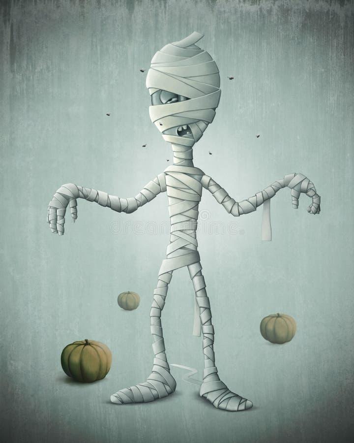 Momia Halloween libre illustration
